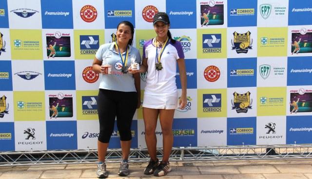 Letícia Monteiro (à direita) foi campeã do sub-25 feminino. Crédito: Ana Karla Santiago