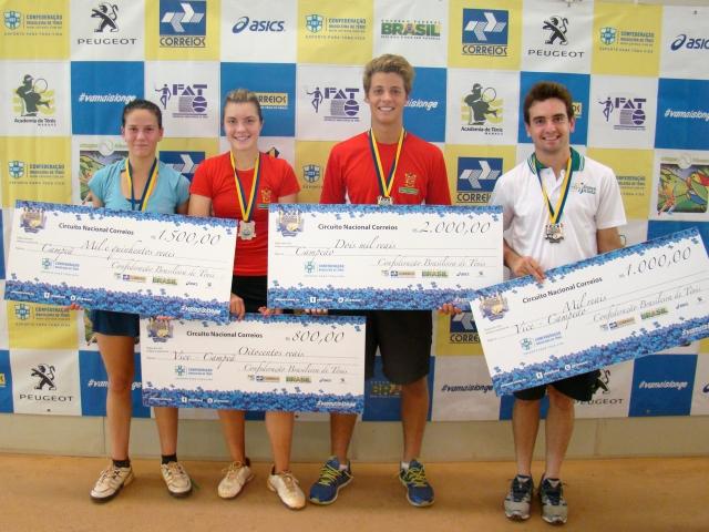 Sophia Chow e Gabriel Sidney foram campeões do Sub-26. Crédito: Rubens Lisboa/CBT
