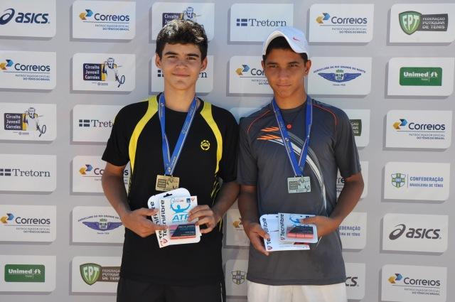 Jackson Xavier venceu Victor Batista na final de 14 anos masculino Credito: Rubens Lisboa